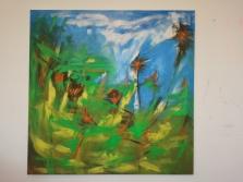 """""""Beginning"""", 2013, Acryl auf Leinwand, 100 x 100 cm m"""